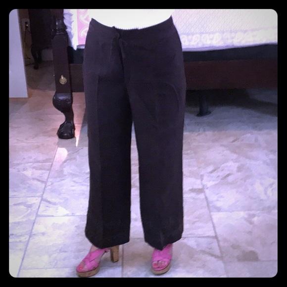 60d430b56768 Escada Pants - Escada Linen Embroidered Wide Leg Pants